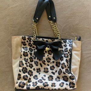 Leopard print Betsey Johnson Purse